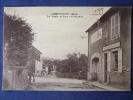 PASSENANS (Jura)  La Poste Et Rue Principale - France
