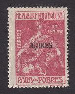 Azores, Scott #RA3, Mint Hinged, Portuguese Postal Tax Overprinted, Issued 1915 - Azoren