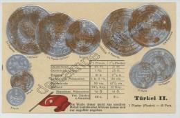 Monnaies De Turquie. Carte Gaufrée. - Coins (pictures)