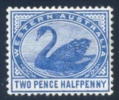 West Australia 1885. 2½d Deep Blue (p14 - Wmk.CA). SG 97*. - Ungebraucht