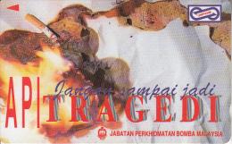 MALAYSIA(GPT) - Fire Tragedy 1, CN : 71MSAB/B, Used - Firemen