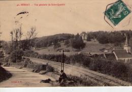 Bernay.. Animée..belle Vue De Saint-Quentin.. Chemin De Fer.. Chien - Bernay