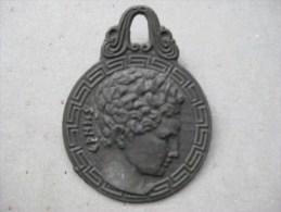 Médaille En Bronze Grèque & - Bronzen