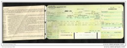 EMIRATES  AIRLINES Transport Air Ticket  ARC Flight Coupon & Boarding Pass 6 Scan - Unclassified
