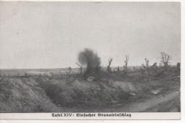 Nr.  1394 ,  Feldpost  1917,  Einfacher Granateinschlag - Guerre 1914-18