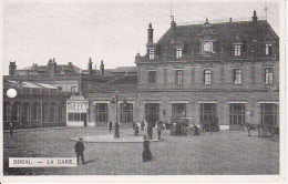 AK Douai - La Gare - Feldpost - Landst. Inf. Batl. Dessau, 3. Komp., 6. Armee - 1915 (5661) - Douai