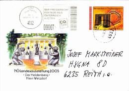 Brief Von 4032 Linz Auf 55 Cent Vordruckkuvert Kreisgräben In Niederösterreich +  7 Cent Bar Frei 2011 - 1945-.... 2ème République