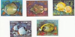 Ethiopië 558/562  Vissen,fishes,poissons MHN ** - Ethiopie