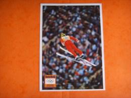 80 )l : Albertville 1992 : Uncle Ben's Official Sponsor :saut à Ski - Olympische Spiele