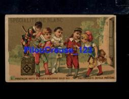 """87 Haute Vienne - LIMOGES - CHROMO - """" Pantalon Invite Sa Fille à Désigner ....  - Pub SPECIALITE De BLANC """" - 2 Scan - Chromos"""