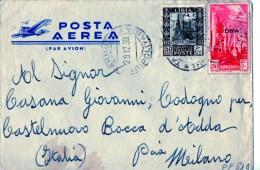 BUSTA POSTALE -POSTA AEREA-LIBIA-POSTA MILITARE-TRIPOLITANIA - Francobolli