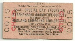 AN797 UK British Railways Railtour SLS Midland Compound 1000 Special - Railway