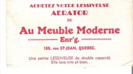 """Meubles Achetez Votre Lessiveuse Aerator De Au Meuble Moderne Enr'g., Quebec  6.3"""" X 3.3"""" - Blotters"""