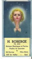 """H. Roberge Moteurs Electriques Et Parties Poulies & Courroies  Quebec  6.3"""" X 3.3""""  15.8 Cm X 8.5 Cm - Blotters"""