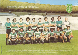 Sporting (postal Autografado Pelos Jogadores). Lisboa. Estadio. Stade. Stadio.Stadium.Futebol. Calcio. Fútbol. Football. - Soccer