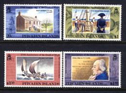 PITCAIRN IS - 1992 WILLIAM BLIGH ANNIVERSARY SET (4V) SG 422-425 FINE MNH ** - Stamps