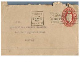 (PF 961) Australia Air Letter To Jewish Welfare Office - Australia