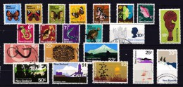 New Zealand 1970 Set - Butterflies, Fish, Icons, Views Used - - - New Zealand