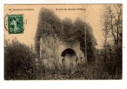 Cp , 85 , FONTENAY LE COMTE , RUINES DE L'ANCIEN CHÂTEAU , Voyagée 1908 - Fontenay Le Comte
