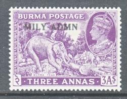 BURMA  43   *   ELEPHANT - Burma (...-1947)