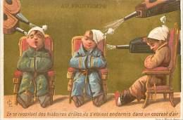 :réf  M 14-1286 :  Au Printemps Le Courant D'air (léger Pli) - Vieux Papiers