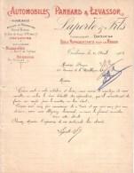 HAUTE GARONNE - TOULOUSE - AUTOMOBILES PANHARD & LEVASSOR - LAPORTE & FILS - LETTRE - 1903 - Cars