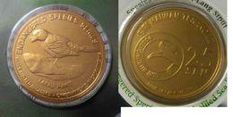 MALAYSIA 2005 2004 25 Cent Coin Bird Nordic Gold BU 25 Sen Black And Red Broadbill - Malaysia