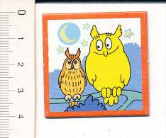 Carton 4 X 4 Cm  / Humour Oiseau Chouette Hibou / Bird Owl Humor  // IM 51/A - Non Classificati