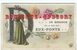 OF < 75004 PARIS - RARE < BONJOUR De La RUE Des DEUX PONTS - FEMME ELEGANTE CHAPEAU < CP ECRITE Du N° 35 De Cette Rue - Arrondissement: 04