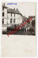JARNY-Concert-Lazaret-Blesses-Carte Photo Allemande-Guerre14-18-1WK-Militaria-Frankreich-France-54- - Jarny