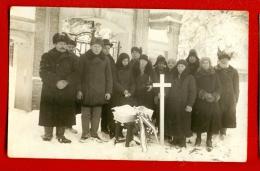 Antique Post Mortem BABY In Casket Vintage Funeral Photo Pc. W2067 - Illustrators & Photographers