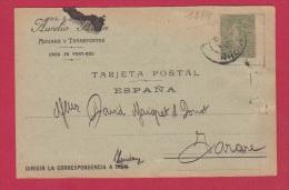 CARTE POSTALE  ADUANA Y TRANSPORTES A PORT BOU  //  POUR TARARE  //  29/5/1917 - Zonder Classificatie