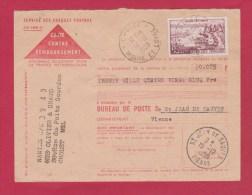 CONTRE REMBOURSEMENT  // POUR  ST JEAN DE SAUVES  // 15/12/1959 - Documents Of Postal Services