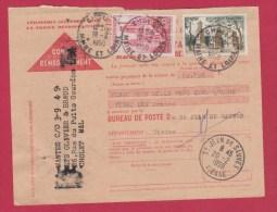 CONTRE REMBOURSEMENT  // POUR  ST JEAN DE SAUVES  // 20/2/1959 - Documents Of Postal Services
