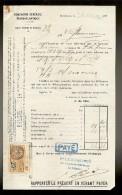 Document De La Cie Gle TRANSATLANTIQUE Steamer :HACOUS  Venant De F.DE.FRANCE . Arrivé Au HAVRE Le 21.03.1927 - Transportmiddelen