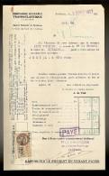 FACTURE De La Cie Gle TRANSATLANTIQUE Steamer : MONT VENTOUX Venant De F.DE.FRANCE Le 13.12.1927 - Transports