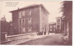 LAMALOU-les-BAINS   - La  Maison  De  Santé  Et  L´Entrée  Des  Bains - Lamalou Les Bains