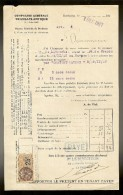 FACTURE De La Cie Gle TRANSATLANTIQUE Steamer :P.DE.LATOUCHE Venant De F.DE.FRANCE Le 01.12.1927 - Transports