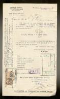 FACTURE De La Cie Gle TRANSATLANTIQUE Steamer : CARBET Venant De F.DE.FRANCE Le 31.05.1928 - Transports