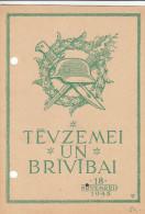 Lettonie - Carte Postale De 1945 - Casque - Poignard - Latvia