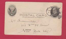 USA  // ENTIER POSTAL   //    POUR NEW YORK  // - 1921-40