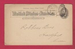 USA  // ENTIER POSTAL   //    DE  NEW YORK  // POUR HARTFORD  //  JAN 1927