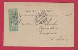 CARTE POSTALE  //  DE NIORT  //  POUR PAMPROUX  //  18 JUIN 1896 - 1876-1898 Sage (Type II)