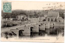 CP, 87, SAINT-JUNIEN, Le Pont et Notre-Dame du Pont, Dos simple, Voyag� en 1901