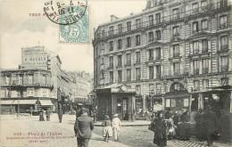 """/ CPA FRANCE 75019 """"Tout Paris, Place De L'église"""" / TRAMWAY - Distretto: 19"""
