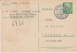 Bund Heuss Gzs P 31 PSt I Stempel Ober Rosbach ü Friedberg 1957 - [7] République Fédérale