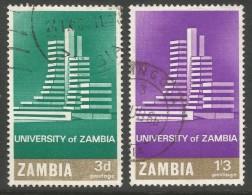 Zambia. 1966 Opening Of Zambia University. Used Complete Set. SG 118-119 - Zambia (1965-...)