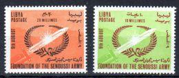 9-8-1964, Royaume Libye - Anniversiare De L´Armée, Y&T No. 242 + 243, Neuf **, Voir Scan, Lot 41676 - Libye