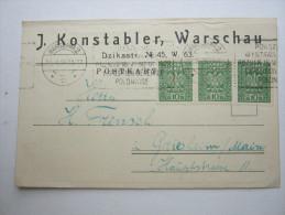 1929, Karte Aus Warschau - 1919-1939 Republic