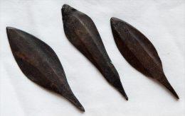 3 Pointes De Flèches Africaines En Cuivre - Archéologie